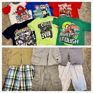 Other - Boys 12 Piece Lot of T-Shirts & Shorts Size 5T/5